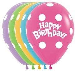 Happy Birthday - stippen - latexballon - 12Inch