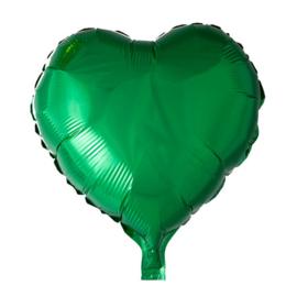 Hart - Groen - Folie Ballon - 18 Inch/46cm