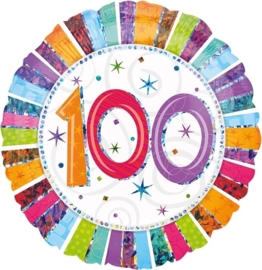 100 - Folie ballon - kleurig - 18 inch/45 cm