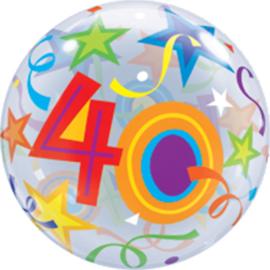 40 - Bubbles - Gekleurde Sterren - 22 inch/56cm