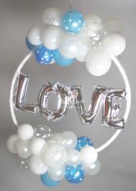 Love Hoepel - Zilver/Wit/Blauw