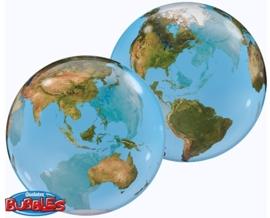 Bubbles - Wereld Bol - Ballon - 22 inch/56cm