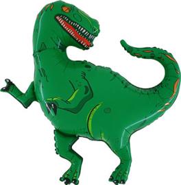T-Rex - Dino - Groen -  Folie Ballon -  36inch/90cm