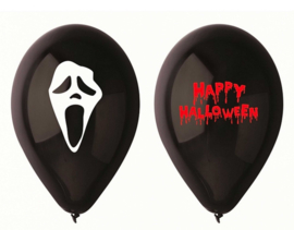 Happy Halloween - Zwart - Latex Ballon - 12 Inch/ 30 cm