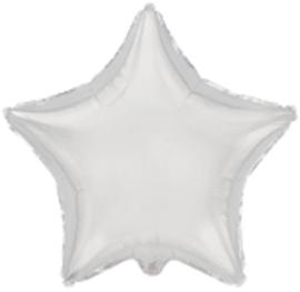 Ster - Zilver - Folie Ballon -  18 inch/ 45cm