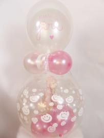 Cadeau - Kado Ballon - Baby - Little Girl - Latex Top Ballon