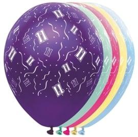 11 - Nummer - div. kleuren - Latex Ballon - 11 Inch / 27,5 cm