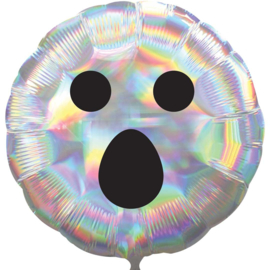 Spook Gezicht- Iriserende Folie Ballon - 43 cm - Halloween