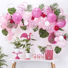 DIY: Roze Ballonnen Boog / Slinger Set - Roze/Wit Latex ballonnen - 70 st.
