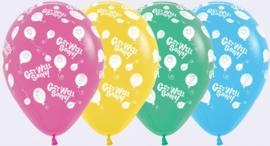 Get Well Soon - Div. Kleuren - Latex Ballonnen - 12 Inch / 30 cm - 5st.
