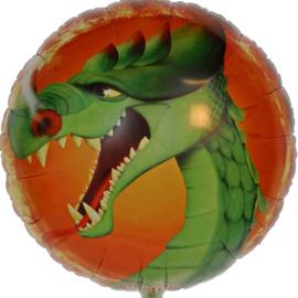 Draak - Groen - Folie Ballon- 18 Inch/45cm