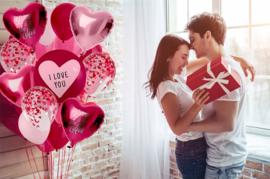 Helium Tank met Love Ballonnen
