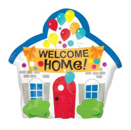 Welcome Home- Huis met ballonnen - Folie Ballon - 20x19 Inch/50 x48 cm
