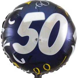50 - Zilver / Goud folie ballon - 18 Inch/45cm