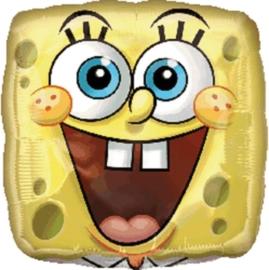 Spongebob - vierkant -Folie Ballon -  18 inch/ 45cm