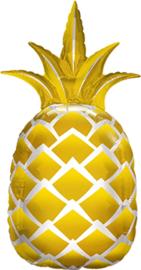 Ananas - Goud / Zilver - Folie Ballon - 44 Inch/112 cm
