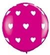 Hartjes - Fuchia - Latex ballon - 11 Inch /27,5cm - 5 st.