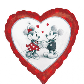 Mickey & Minnie - Love - Hart - Folie Ballon - 18 Inch/45cm
