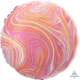 Marmer - Roze / Wit / Goud - 17 Inch / 43 cm