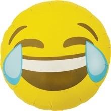 Emoticon - Emoji - Lachen / Tranen - Folie Ballon 18 Inch. /46cm