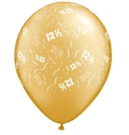 12,5 - Nummer - Goud - latex ballon - 11Inch./ 27,5cm