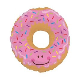 Donut  - XXL Folie Ballon - Roze - 30 Inch/76cm