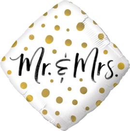 Mr. & Mrs. - Trouwdag - Folie Ballon - 18 inch / 46 cm