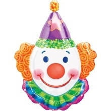 Clown  - Folie Ballon -  XXL - 25 x 33 Inch / 63 x 83 cm