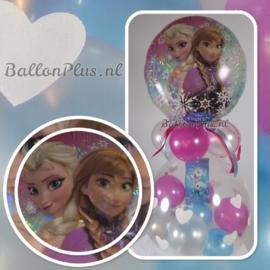 Cadeau - Kado Ballon - Frozen - Grote Harten - Folie Top Ballon