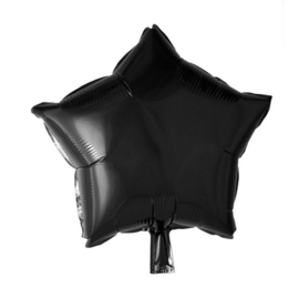 Ster - Zwart - Folie Ballon - 18 Inch/46 cm
