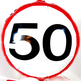 50 - Folie Ballon - verkeersbord - 18 Inch/45 cm
