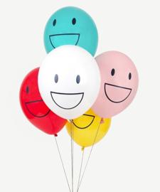 My Little Day - Happy Faces - Vrolijke gezichten - div. Kleuren  - Latex Ballon - 12 Inch. / 30 cm