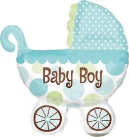 Baby Boy - Kinderwagen - XXL Folie Ballon - 31 Inch./ 71 x 78cm