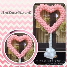 Ballonnen Pilaar - Roze Hart