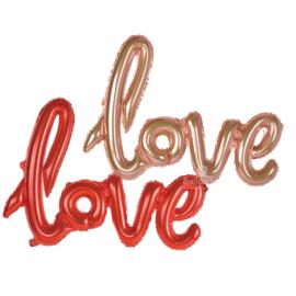 Love ballon - Rood / Rose Goud - Handgeschreven - Tekst  Ballon - Folie Ballon