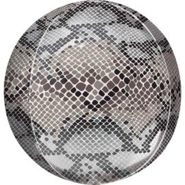 Slangen Print - Ronde Folie Ballon - Orbz - 15 x 16 Inch / 38x40 cm