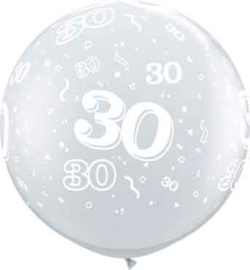 30 - Doorzichtige Ballon XXL -Latex Ballon - 36Inch / 90cm