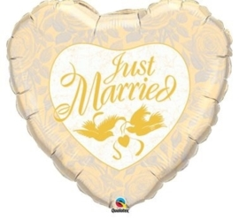 Just Married- Folie Ballon - Goud - 18Inch/45cm