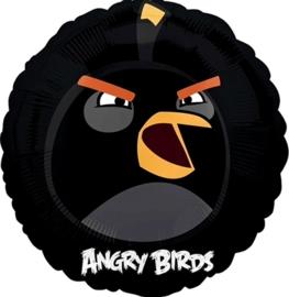 Angry Birds - Zwart - Folie Ballon - 18 Inch / 45 cm