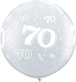 70 - Doorzichtige Ballon XXL -Latex Ballon - 36Inch / 90cm