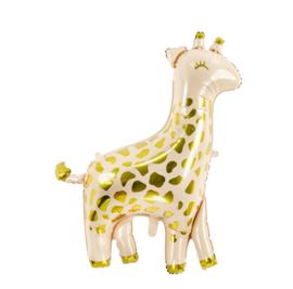 Giraf- XXL - Creme/ Goud - Folie ballon- 31.5x40 Inch / 80x102cm