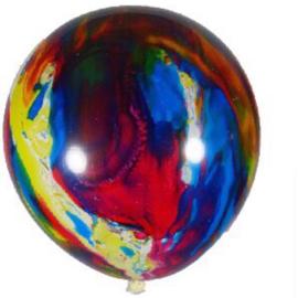Marmer Ballonnen - Multi Color - Latex Ballon - 14 Inch / 35 cm - 5 st.