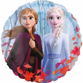 Disney Frozen II -Anna, Elsa, Olaf  Ronde Folie Ballon - 17 Inch./43 cm