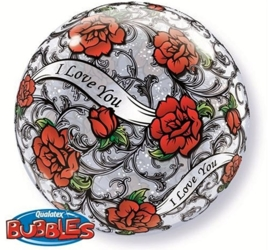 Bubbles Ballon  - I love You - rozen  - 22 inch/56cm