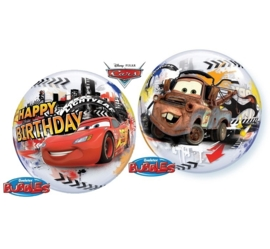 Disney - Cars - Lightning Mcqueen - Happy Birthday-Bubbles Ballon -  22 inch/55cm