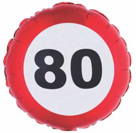 80 - Verkeersbord- Folie Ballon - 18 inch / 46 cm