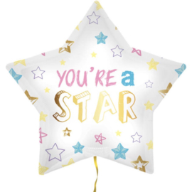 You'r a Star - Ster Folie Ballon - 18 Inch/45cm