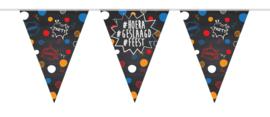 #Hoera #Geslaagd #Feest - Vlaggenlijn - 10 meter (6 meter a 15 vlaggen)