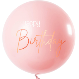Happy Birthday - Grote Roze Latex  Ballon - 80 cm