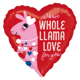 I Have Whole LLama Love for you - hart folie ballon - 17 INCH/43cm